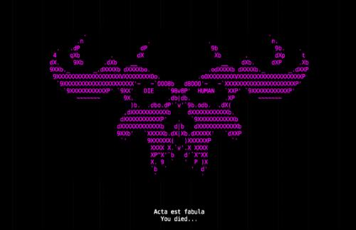 Ultimate ADOM (ASCII): You died...