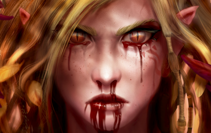 Blood makes for the best make-up.